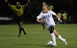 Kaitlyn Kerr notched Duke's second goal against Virginia Tech, a header putting the Blue Devils up 2-1.