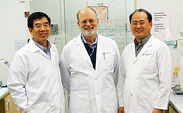 Dr. Larry Liao, Dr. Barton Haynes and Dr. Feng Gao (left to right) have made headway in the creation of an HIV vaccine by charting for the first time the virus' evolution that occurs when it enters the body.