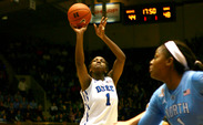 Junior Elizabeth Williams scored a career-high 28 points in the Blue Devils' loss to North Carolina last week.