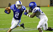 Duke wide receiver Conner Vernon caught two touchdowns, pulling in eight catches for 120 yards.