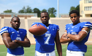 Jamison Crowder, Anthony Boone and Jeremy Cash are three of Duke football's 2014 captains, along with Kelby Brown and Laken Tomlinson.