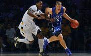 Mason Plumlee will face a tough battle in the paint against Louisville's 6-foot-10 center Gorgui Dieng.