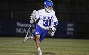 Jordan Wolf scored four goals and tallied three assists in Duke's 19-11 win against Marist.