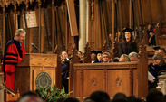 Dean Steve Nowicki speaks at the Class of 2018 Convocation on Wednesday.