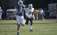 Redshirt sophomore Thomas Sirk picked up 95 rushing yards—most of them on a pair of long runs—as the opportunistic Blue Devils steamrolled Tulane 43-17.