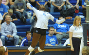 Sophomore Jeme Obeime leads Duke in kills as the team heads to Boston College and Maryland this weekend.
