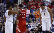 Freshman Jabari Parker led the way with 20 points on his 19th birthday as Duke knocked off N.C. State 75-67.