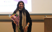 Award-winning Pakistani filmmaker Sharmeen Cinoy spoke about her films that focus on women in Pakistan Thursday evening.