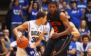Guard Seth Curry shot 60 percent from 3-point range against Princeton, scoring 14 points in 24 minutes.