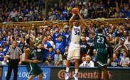 Andre Dawkins scored 20 points on 6-of-10 shooting from 3-point range as the Blue Devils took down Eastern Michigan.