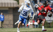 Junior attack Jordan Wolf scored five goals to lead Duke past Rutgers and notch the team's ninth straight victory.