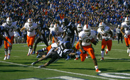 Running back Duke Johnson torched the Blue Devils last season but is out for the year with an ankle injury.