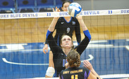 Senior middle blocker Christiana Gray will assist the Blue Devils in winning this weekend against N.C. State and North Carolina.