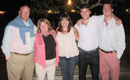 Matthew Grape, far right, with (left to right) father Peter, mother Linda, sister Katie and brother Peter, Jr.