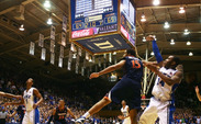 Rasheed Sulaimon's 3-pointer in the closing seconds got a shooter's roll and propelled Duke to a 69-65 victory against Virginia.