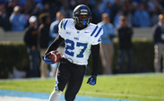 Redshirt freshman DeVon Edwards returned a kickoff for a touchdown and added a crucial interception to seal Duke's Coastal Division championship.
