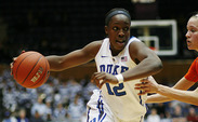 Strong defensive play helped the Blue Devils down Virginia Tech 58-26 Wednesday night.