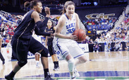 Haley Peters and Duke women's basketball play seventh-seeded Oklahoma State Tuesday night at Cameron Indoor Stadium.