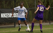 Duke freshman Imani Dorsey netted a goal and assisted on another in the Blue Devils' 3-0 victory against Pittsburgh.