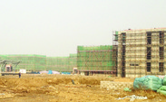 Construction of the Duke Kunshan University campus, seen last week, is set to finish sometime between the end of 2013 and beginning of 2014.