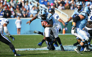 North Carolina quarterback Marquise Williams leads the Tar Heels on the ground with 623 yards and 10 scores to go along with his 18 passing touchdowns this season.