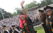 Graduates of the Class of 2012 attend the commencement ceremony in Wallace Wade Stadium Sunday.