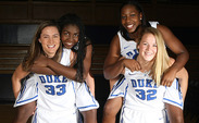 Haley Peters, Elizabeth Williams, Chelsea Gray and Tricia Liston, clockwise from left, combined for 49.3 PPG last year.