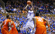 With a career-high 27 points, Quinn Cook led Duke to a 68-40 win against Clemson Tuesday night.