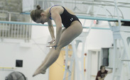 In her one meet this season, Abby Johnson finished first in the 1-meter springboard event against South Carolina Jan. 12.