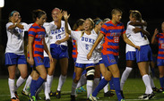 The Blue Devils upset No. 2 seed Florida Friday at Koskinen Stadium to reach the third round of the NCAA tournament where they will take on Arkansas 1 p.m. Sunday.