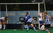 Redshirt junior goalkeeper Lauren Blazing will be one of the Blue Devils' returning leaders and will provide some stability in the net for Duke.