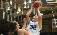 Tricia Liston led Duke's dominance against Shaw with 36 points and 12 rebounds on 13-of-15 shooting.