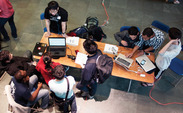 715 students from Duke, the University of North Carolina at Chapel Hill, North Carolina State University, the University of Maryland and more participated in the hackathon this weekend.