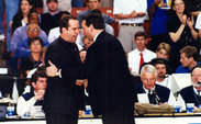 Duke head coach Mike Krzyzewski and Notre Dame head coach Mike Brey have squared off just once since Brey was an assistant with the Blue Devils.