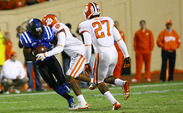 After Duke scored 17 points in the first half, the Clemson defense smothered the Blue Devils in the final two periods, holding them to just three points the rest of the way.