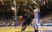 Freshman center Jahlil Okafor will look to continue playing solid defense as the Blue Devils look to close out their nonconference slate on a high note Sunday.