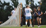 Gabby Moise helped hold the Tar Heels' Abbey Friend, who has scored 37 goals this year, to just one assist.