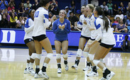 Senior libero Ali McCurdy broke Duke's single-season digs record, which she had set last season, in Duke's loss to Clemson.