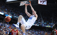 Already a tenacious defender, redshirt senior Marshall Plumlee will look to develop consistency on the offensive end heading into his final year as a Blue Devil.