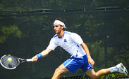 Fred Saba was one of four Blue Devils to drop singles matches after the team held a commanding 3-0 lead against Wake Forest.