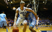 After turning it over four times in the first half, Mason Plumlee did not cough it up once in the second period and battled through foul trouble to record 18 points and 11 rebounds.