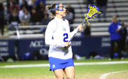 Makenzie Hommel scored a team-high four goals in No. 5 Duke's loss to No. 3 North Carolina.