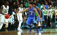 The Blue Devils dropped their second contest in South Bend, Ind., in two years Wednesday night.