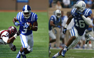 After successful weekends against Troy, Duke's Jamison Crowder (left) and Jeremy Cash (right) each earned ACC Player of the Week awards.