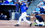 Mike Rosenfeld keyed Duke's season-opening win against No. 13 Florida, going 3-for-5 with a double and triple.