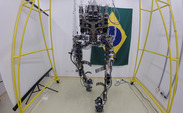 The finalized exoskeleton designed by Dr. Miguel Nicolelis and his Walk Again Project.