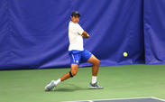 Freshman Nicolas Alvarez will play in both the NCAA singles and doubles tournaments Thursday after Wednesday's first-round singles victory.