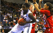 Elizabeth Williams scored 10 points, grabbed nine rebounds and swatted seven shots in Duke's victory against Nebraska.