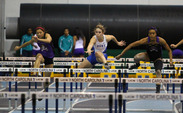 Senior Hannah Goranson broke the school record in the 100-meter hurdles Sunday at the Virginia Challenge.