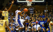 Rodney Hood exploded in the second half en route to 27 points as Duke notched its first ACC win against Georgia Tech.